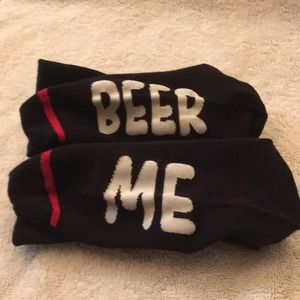 Other - New no tags, black socks that say BEER ME